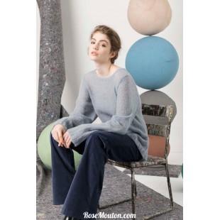 Modèle pullover 2 catalogue FAM 247Lang Yarns