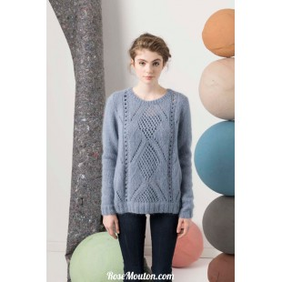 Modèle pullover 9 catalogue FAM 247Lang Yarns