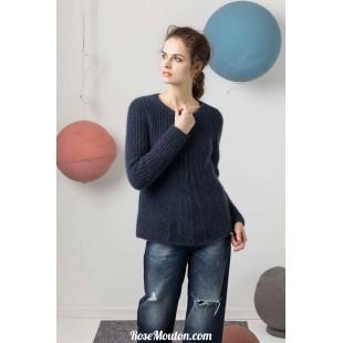 Modèle pullover 14 catalogue FAM 247Lang Yarns