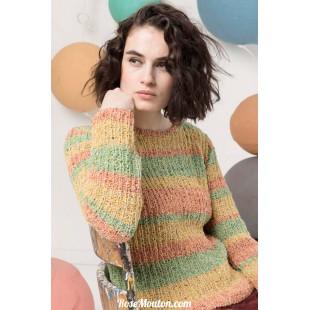 Modèle pullover 26 catalogue FAM 247Lang Yarns