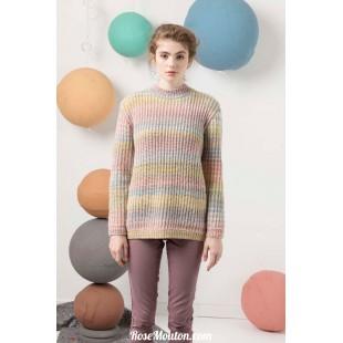 Modèle pullover 27 catalogue FAM 247Lang Yarns