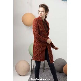 Modèle manteau 39 catalogue FAM 247Lang Yarns