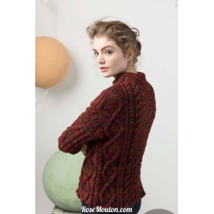 Modèle pullover 40 catalogue FAM 247Lang Yarns