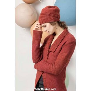 Modèle bonnet 42 catalogue FAM 247Lang Yarns