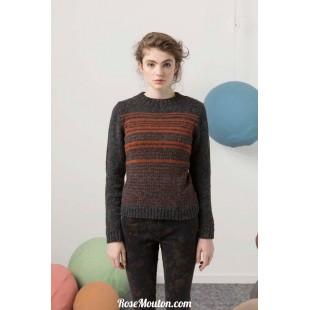 Modèle pullover 48 catalogue FAM 247Lang Yarns