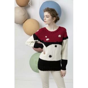 Modèle pullover 54 catalogue FAM 247Lang Yarns