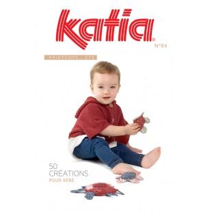 KATIA 50 Créations pour Bébé printemps été 2018 N° 84Katia