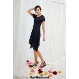Modèle robe à pointes 32 catalogue FAM 251LANG YARNS