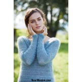 Modèle pullover 8 catalogue FAM 253 LANG YARNS
