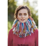 Modèle snood à franges 15 catalogue FAM 253 LANG YARNS