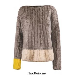 Modèle pullover 39 catalogue FAM 256Lang Yarns