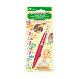 Outil à aiguille pour feutrage forme styloClover