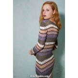 Modèle robe 1 catalogue FAM 259LANG YARNS