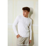 Modèle pullover homme 25 catalogue FAM 259 LANG YARNS