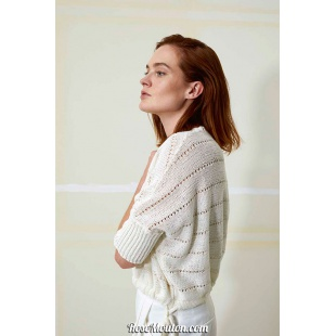 Modèle pullover 28 catalogue FAM 259Lang Yarns