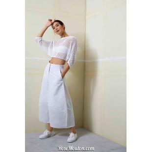 Modèle pullover 30 catalogue FAM 259Lang Yarns