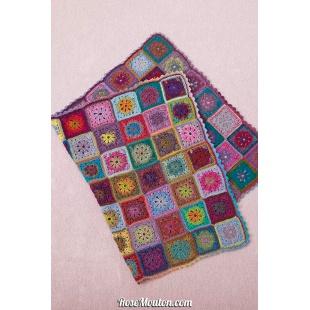 Modèle plaid au crochet 9 catalogue FAM 254Lang Yarns