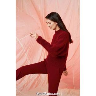 Modèle pullover 39 catalogue FAM 261Lang Yarns