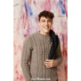 Modèle pullover homme 59 catalogue FAM 261 LANG YARNS