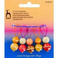Anneaux marqueurs perles en bois