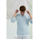 Modèle pullover homme 14 catalogue FAM 263 LANG YARNS