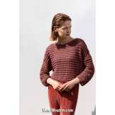 Modèle pullover 36 catalogue FAM 263 LANG YARNS