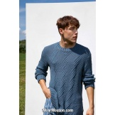 Modèle pullover homme 40 catalogue FAM 263 LANG YARNS