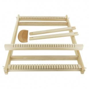 Métier à tisser en bois 28 fils (39 x 30 x 3 cm)