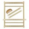 Métier à tisser en bois 28 fils (39 x 30 x 3 cm)Accessoires
