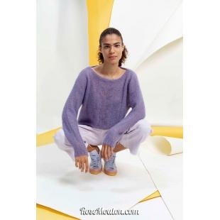 Modèle pullover 2 catalogue FAM 267Lang Yarns