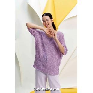 Modèle pullover 3 catalogue FAM 267Lang Yarns