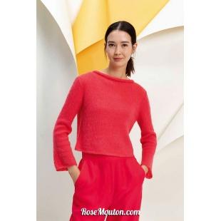 Modèle pullover 4 catalogue FAM 267Lang Yarns