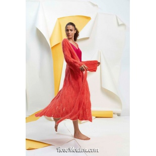Modèle manteau / veste longue 5 catalogue FAM 267Lang Yarns