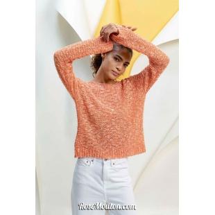 Modèle pullover 7 catalogue FAM 267Lang Yarns