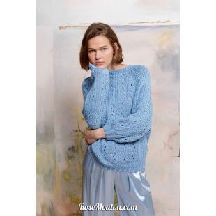 Modèle pullover 19 catalogue FAM 267Lang Yarns