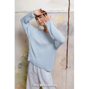 Modèle pullover 21 catalogue FAM 267Lang Yarns
