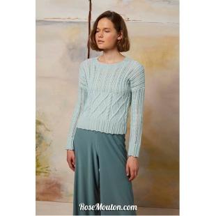 Modèle pullover 27 catalogue FAM 267Lang Yarns