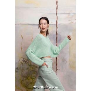 Modèle pullover 29 catalogue FAM 267Lang Yarns