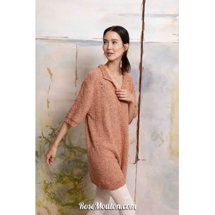Modèle long pullover 36 catalogue FAM 267Lang Yarns