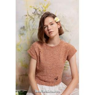 Modèle pullover 37 catalogue FAM 267Lang Yarns