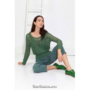 Modèle pullover 46 catalogue FAM 267Lang Yarns