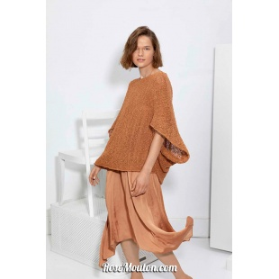 Modèle pullover large 48 catalogue FAM 267Lang Yarns