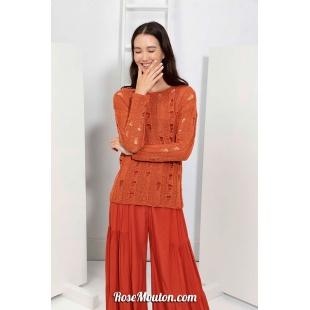Modèle pullover 50 catalogue FAM 267Lang Yarns