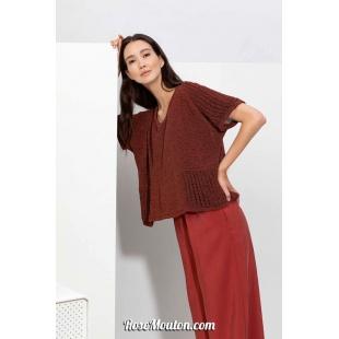 Modèle pullover 54 catalogue FAM 267Lang Yarns