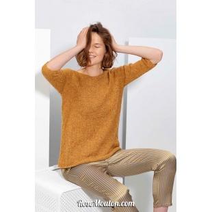 Modèle pullover 57 catalogue FAM 267Lang Yarns