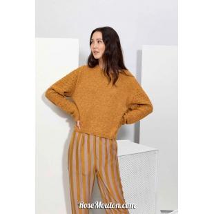Modèle pullover raglan 58 catalogue FAM 267Lang Yarns