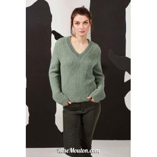 Modèle pullover 43 catalogue FAM 269Lang Yarns