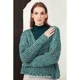 Modèle pullover 56 catalogue FAM 269LANG YARNS
