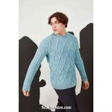 Modèle pullover 60 catalogue FAM 269LANG YARNS