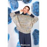 Modèle pullover chauve-souris 28 catalogue FAM 269